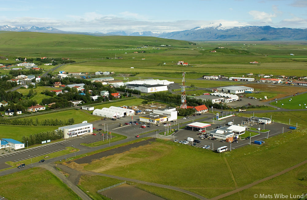 Hlíðarendi, Hvolsvöllur séð til austurs, Rangárþing eystra / Hlidarendim Hvolsvöllur viewing east, Rangarthing eystra