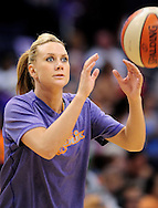 Sep 25, 2011; Phoenix, AZ, USA; Phoenix Mercury forward .Penny Taylor (13) warms up prior to the game against the Minnesota Lynx during the first half at the US Airways Center. Mandatory Credit: Jennifer Stewart-US PRESSWIRE