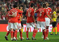 20120316: LISBON, PORTUGAL - Liga Zon Sagres 2011/2012: SL Benfica vs Beira-Mar. In picture: Benficas Team. PHOTO: Alvaro Isidoro/CITYFILES