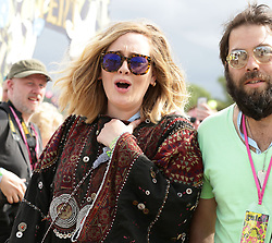"""File photo dated 27/06/15 of singer Adele with her husband Simon Konecki. Adele has cited """"irreconcilable differences"""" in her divorce from her husband, legal papers reveal."""