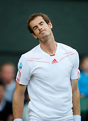 LONDON, ENGLAND - Saturday, June 30, 2012: Andy Murray (GBR) during the Gentlemen's Singles 3rd Round match on day five of the Wimbledon Lawn Tennis Championships at the All England Lawn Tennis and Croquet Club. (Pic by David Rawcliffe/Propaganda)