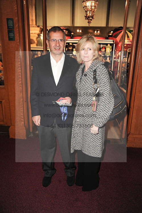 GERALD RATNER and his wife MOIRA at the gala opening night of Cirque du Soleil's Varekai at the Royal Albert Hall, London on 5th January 2010.