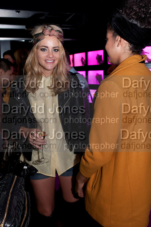 ALICE GOLD; JAIME JARVIS , United Nude launched their London shop.  in association with TANK Magazine. Floral st. Covent Garden. London. 7 September 2011. <br /> <br />  , -DO NOT ARCHIVE-© Copyright Photograph by Dafydd Jones. 248 Clapham Rd. London SW9 0PZ. Tel 0207 820 0771. www.dafjones.com.