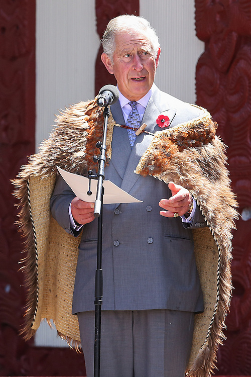 Prince Charles, Prince of Wales makes a speech during a visit to Turangawaewae Marae, Hamilton, New Zealand, New Zealand, Sunday, November 08, 2015. Credit:SNPA / Hagen Hopkins  **POOL**