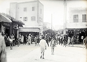 street scene city of Casablanca in Morocco early 1900s
