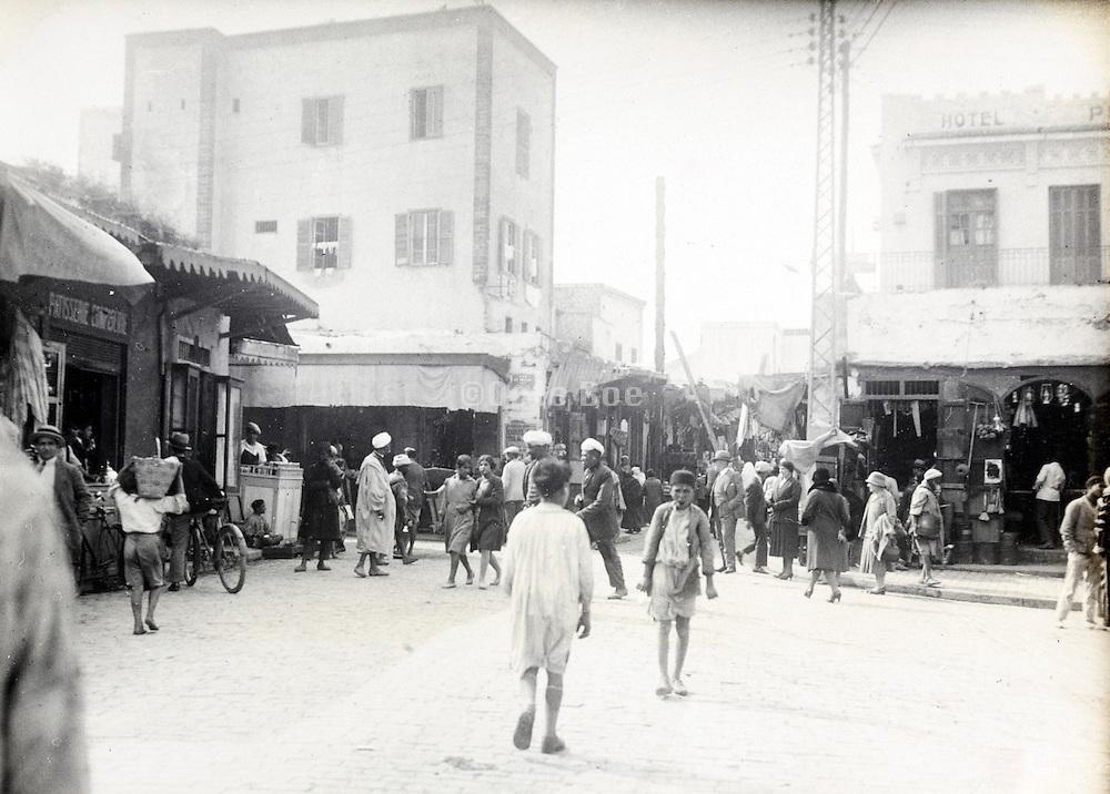 street scene city of Casablanca in Morocco early 1900s