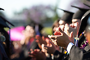 The Cal Hills Class of 2012 applauds student speakers during graduation on June 15, 2012, held at Milpitas High School, Milpitas, Calif.  Photo by Stan Olszewski/SOSKIphoto.