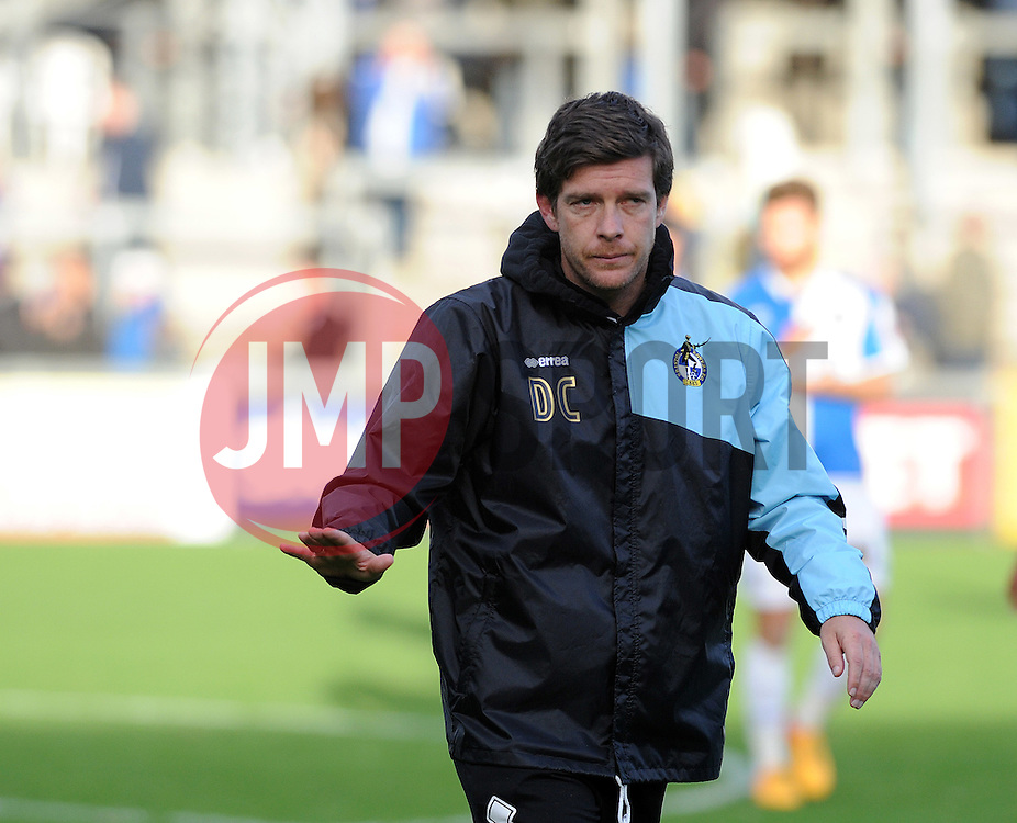 A disappointed Bristol Rovers Manager Darrell Clarke - Mandatory byline: Neil Brookman/JMP - 07966 386802 - 24/10/2015 - FOOTBALL - Memorial Stadium - Bristol, England - Bristol Rovers v Newport County AFC - Sky Bet League Two