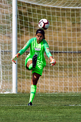 NORMAL, IL - August 10:  Priya Gillan during a nonconference exhibition women's soccer match between the Southern Illinois Edwardsville Cougars and the Illinois State Redbirds August 10 2019 on Adelaide Street Field in Normal IL (Photo by Alan Look)