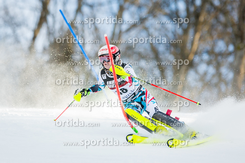 """Katharina Truppe (AUT) during FIS Alpine Ski World Cup 2016/17 Ladies Slalom race named """"Snow Queen Trophy 2017"""", on January 3, 2017 in Course Crveni Spust at Sljeme hill, Zagreb, Croatia. Photo by Žiga Zupan / Sportida"""