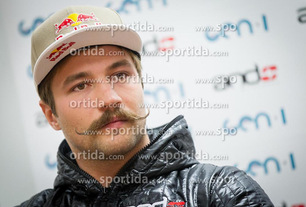 Filip Flisar during press conference of Slovenian Ski cross team on November 5, 2013 in SZS, Ljubljana, Slovenia. (Photo by Vid Ponikvar / Sportida)