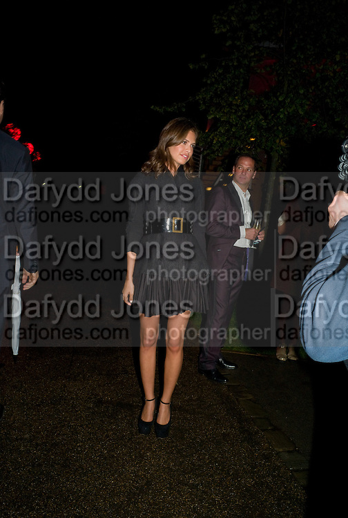 DASHA ZHUKOVA, The Summer Party. Hosted by the Serpentine Gallery and CCC Moscow. Serpentine Gallery Pavilion designed by Frank Gehry. Kensington Gdns. London. 9 September 2008.  *** Local Caption *** -DO NOT ARCHIVE-© Copyright Photograph by Dafydd Jones. 248 Clapham Rd. London SW9 0PZ. Tel 0207 820 0771. www.dafjones.com.