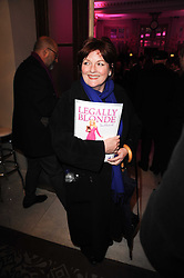BRENDA BLETHYN at the after show party following the first night of the musical Legally Blonde, held at the Waldorf Hilton Hotel, Aldwych, London on 13th January 2010.