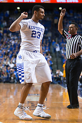 Kentucky guard Jamal Murray makes a three point basket in the second half.<br /> <br /> The University of Kentucky hosted the University of Missouri, Wednesday, Jan. 27, 2016 at Rupp Arena in Lexington.