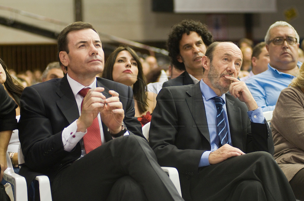 Meting of the opening of the election campaign of the Spanish Socialist Party (PSOE).Alfredo Peres Rubalcaba and Tomas Gomez.