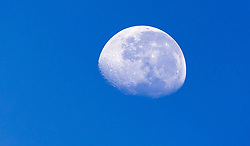 THEMENBILD - der Mond unter Tags mit blauen Himmel // Day time moon on blue sky background, Viehhofen, Austria on 2015/08/04. EXPA Pictures © 2015, PhotoCredit: EXPA/ JFK