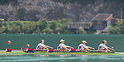 Aiguebelette, FRANCE.   USA W4X. Grace LATZ, Tracy EISSER, Eleanor LOGAN and Felice MUELLER.  2014 FISA World Cup II, 12:24:27  Sunday  22/06/2014. [Mandatory Credit; Peter Spurrier/Intersport-images]