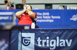 Slovenian Gorazd Vecko, coach of Great Britain reacts during Day 3 of SPINT 2018 - World Para Table Tennis Championships, on October 19, 2018, in Arena Zlatorog, Celje, Slovenia. Photo by Vid Ponikvar / Sportida