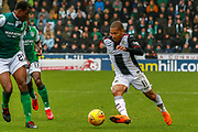 Simeon Jackson of St Mirren heads for goal during the Ladbrokes Scottish Premiership match between St Mirren and Hibernian at the Simple Digital Arena, Paisley, Scotland on 29th September 2018.