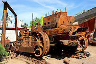 Rusty bulldozer in Candelaria, Artemisa, Cuba.