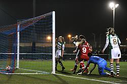 Rosella Ayane of Bristol City Women scores to make it 1-0 - Mandatory by-line: Dougie Allward/JMP - Mobile: 07966 386802 - 23/03/2016 - FOOTBALL - Stoke Gifford Stadium - Bristol, England - Bristol City Women v Yeovil Town Ladies - FA Women's Super League 2