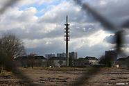 Sprengung eines Turms