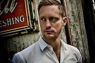 Swedish actor Alexander Skarsgård photographed during the filming of Straw Dogs in Shreveport, Louisiana..Photographer Chris Maluszynski /MOMENT