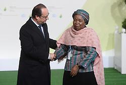 Dec. 1, 2015 - Paris, France - François Hollande - Nkosazana Dlamini-Zuma - Arrivée des chefs d'Etat pour l'ouverture de la COP21 à Paris (Credit Image: © Visual via ZUMA Press)