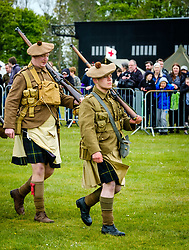 Sunday 7th May 2017 East Fortune:  Wartime Experience at the National Museum of Flight, East Fortune.  Display by reenactors in Gordon Highlanders uniform.<br /> <br /> (c) Andrew Wilson | Edinburgh Elite media