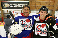 26 August 2017: 2017 Fedorin Cup Charity Ice Hockey Game. 20th Anniversary of picking a fight against cancer with the Athletic Sports Fund of America at the Rinks in Anaheim, CA. Teemu Selanne and Doug Ingraham ©ShellyCastellano.com