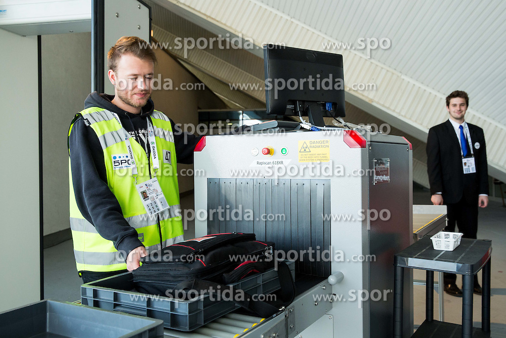 Security at Day 7 in Group B of 2015 IIHF World Championship, on May 7, 2015 in CEZ Arena, Ostrava, Czech Republic. Photo by Vid Ponikvar / Sportida