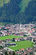 Austria, Tyrol, Zillertal, Mayrhofen elevated view