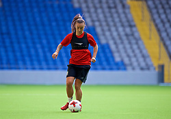 ASTANA, KAZAKHSTAN - Friday, September 15, 2017: Wales' Natasha Harding training at the Astana Arena ahead of the FIFA Women's World Cup 2019 Qualifying Round Group 1 match against Kazakhstan. (Pic by David Rawcliffe/Propaganda)