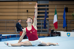 Botond Kardos of Hungary at Floor Exercise during Finals of Artistic Gymnastics FIG World Challenge Koper 2018, on June 2, 2018 in Arena Bonifika, Koper, Slovenia. Photo by Urban Urbanc / Sportida