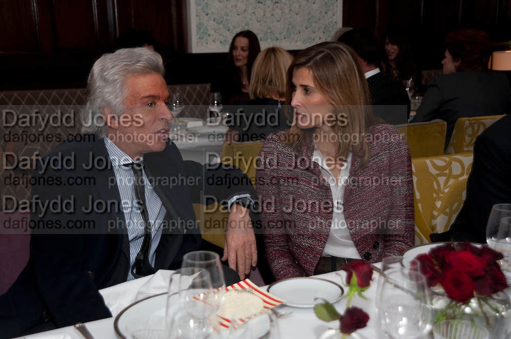 GIANCARLO GIAMETTI; PRINCESS ROSARIO OF BULGARIA, Graydon and Anna Carter host a lunch for Carolina Herrera to celebrate the ipening of her new shop on Mount St. .The Connaught. London. 20 January 2010