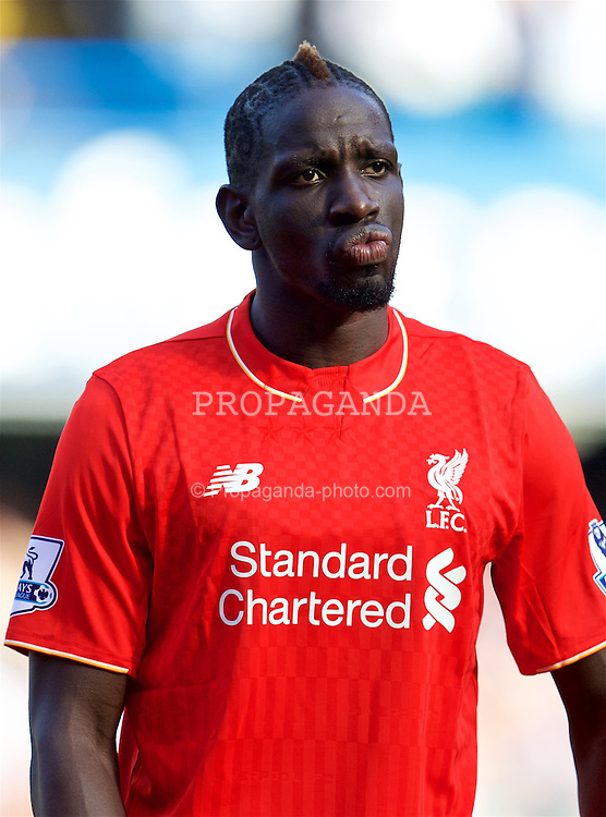 LONDON, ENGLAND - Saturday, October 31, 2015: Liverpool's Mamadou Sakho before the Premier League match against Chelsea at Stamford Bridge. (Pic by David Rawcliffe/Propaganda)