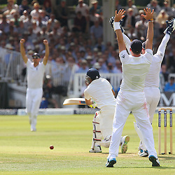 India's Ravindra Jadeja is out bowled by England's Moeen Ali during the first day of the Investec 2nd Test match between England and India at Lords, London, 17th July 2014 © Phil Duncan | SportPix.org.uk