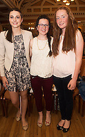 Saoirse Bourke, Ardrahan, Ailbhe McGann, Bell Harbour and Maebh de Coursey McDonnell   at A Vintage and Pre-Loved Fashion Extravaganza held in the Lady Gregory Hotel in Gort . A fundraising event organised by the Parents Council for Seamount's new pitch.  Photo:Andrew Downes