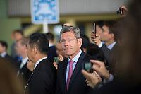 DEU, Deutschland, Germany, Berlin, 10.07.2018: VDA-Präsident Bernhard Mattes während einer Präsentation zum autonomen Fahren im Flughafen Tempelhof.