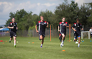 Dundee&rsquo;s Andy Black, Mark O&rsquo;Hara, Nick Ross and Danny Williams  -  Dundee FC pre-season training at Dundee University Grounds, Riverside<br /> <br />  - &copy; David Young - www.davidyoungphoto.co.uk - email: davidyoungphoto@gmail.com