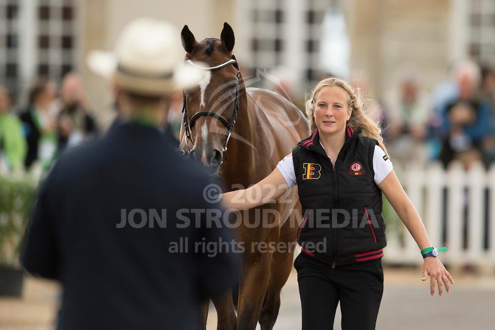Lara De Liedekerke, (BEL), Ducati van den Overdam - First Horse Inspection  - Alltech FEI World Equestrian Games&trade; 2014 - Normandy, France.<br /> &copy; Hippo Foto Team - Shannon Brinkman<br /> 25/06/14