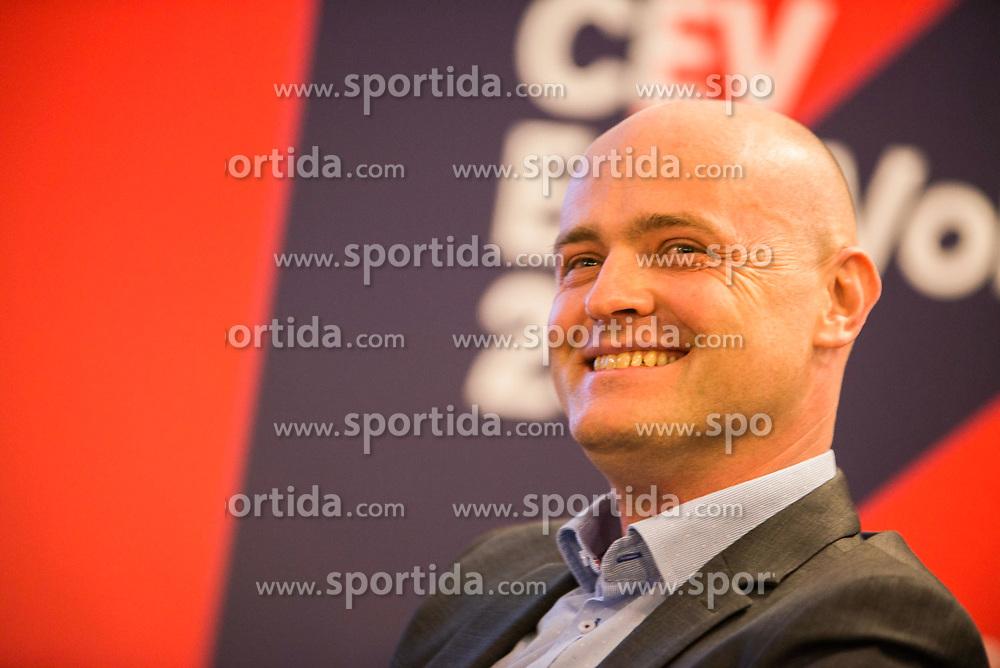 Representative of the main sponsor Petrol  Count down ceremony to CEV Euro Volley 2019 in Ljubljana, Slovenia.