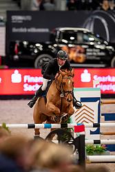 KÖLZ Michael (GER), Lot of Scope<br /> Leipzig - Partner Pferd 2019<br /> Equiline Youngster Cup<br /> 1. Qualifikation Youngster Tour für 7 und 8 jährige Pferde<br /> 17. Januar 2019<br /> © www.sportfotos-lafrentz.de/Stefan Lafrentz
