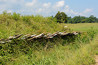 British defense redoubt, Yorktown National Battlefield, Yorktown, Virginia.