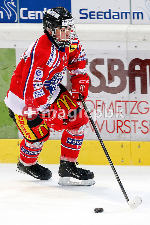 Rapperswil-Jona Lakers forward Kyen SOPA is pictured during a Novizen Elite ice hockey game between Rapperswil-Jona Lakers and SC Bern Future held at the Diners Club Arena in Rapperswil, Switzerland, Saturday, Feb. 6, 2016. (Photo by Patrick B. Kraemer / MAGICPBK)