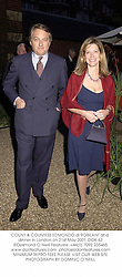 COUNT & COUNTESS EDMONDO di ROBILANT at a dinner in London on 21st May 2001.OOK 63