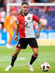 Calvin Verdonk of Feyenoord during the Pre-season Friendly match between Feyenoord Rotterdam and Levante UD at the Kuip on July 29, 2018 in Rotterdam, The Netherlands