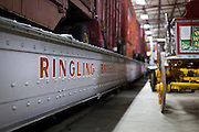 BARABOO, WI – JANUARY 23: A Ringling Brothers Circus train car sits on display at the Circus World Museum in Baraboo.