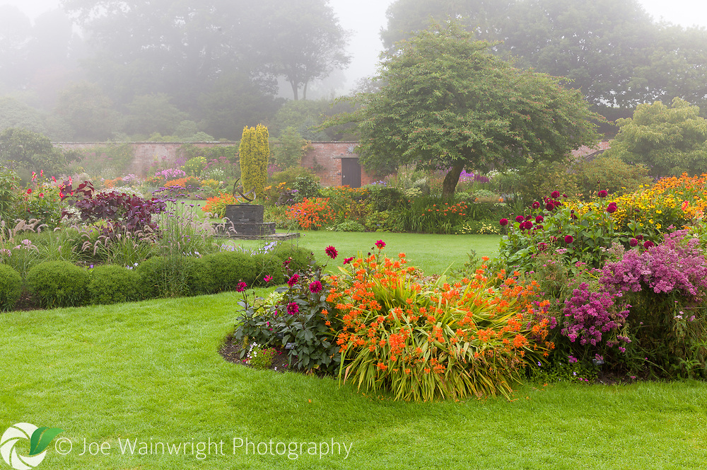Holehird Gardens, Windermere, Cumbria belongs to Lakeland Horticultural Society. The walled garden is pictured here in August.