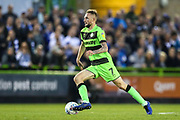 Forest Green Rovers Carl Winchester(7) runs forward during the EFL Sky Bet League 2 second leg Play Off match between Forest Green Rovers and Tranmere Rovers at the New Lawn, Forest Green, United Kingdom on 13 May 2019.